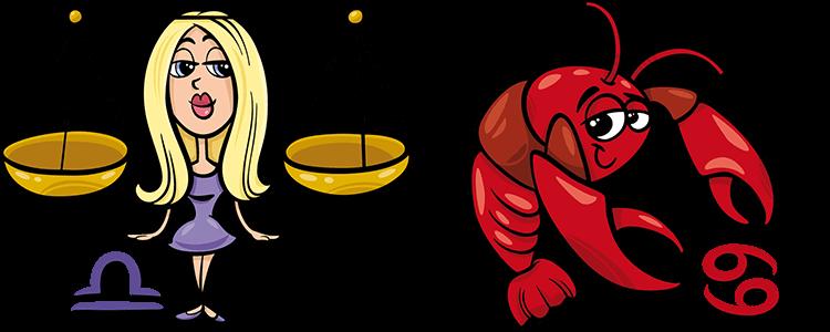 Waage und Krebs Partner Horoskop
