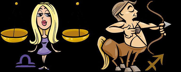 Waage und Schütze Partner Horoskop