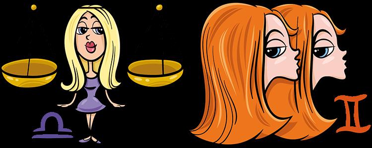 Waage und Zwillinge Partner Horoskop