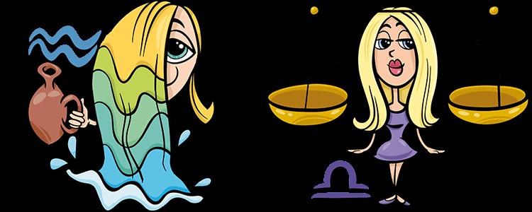 Wassermann und Waage Partner Horoskop