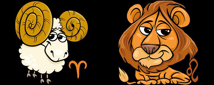 Widder und Löwe Partner Horoskop