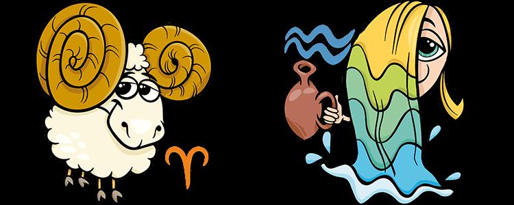 Widder und Wassermann Partner Horoskop