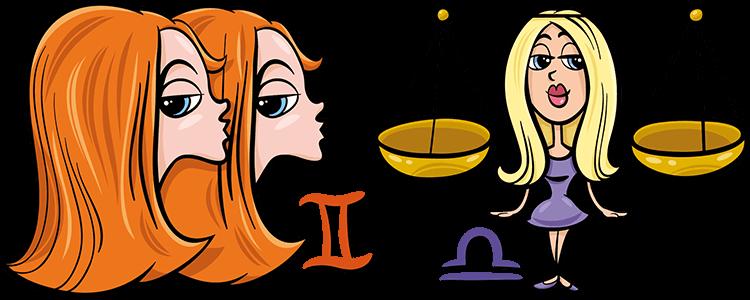 Zwillinge und Waage Partner Horoskop