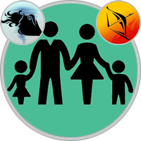Sagittarius Child  — Aquarius Parent