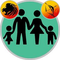 Sagittarius Child  — Leo Parent
