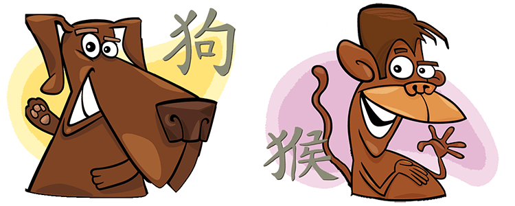 Dog and Monkey Compatibility Horoscope