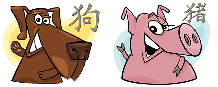 Dog and Pig Compatibility Horoscope