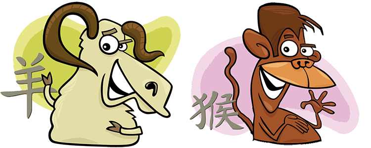Goat and Monkey Compatibility Horoscope