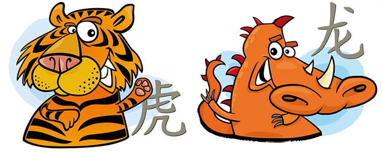 Tiger and Dragon Compatibility Horoscope