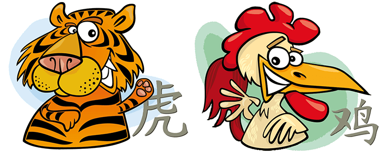 Tiger and Rooster Compatibility Horoscope
